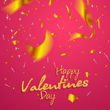 Valentines day. Happy Valentines day lettering card. Vector illustration Royalty Free Stock Image