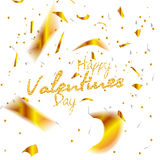 Valentines day. Happy Valentines day lettering card. Vector illustration Stock Photography