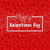 Valentines day. Happy Valentines day lettering card. Vector illustration Stock Images
