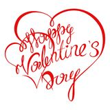 Valentines day. Happy Valentines Day typography poster with handwritten calligraphy text, isolated on white background. Vector Illustration Royalty Free Stock Photo