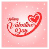 Happy valentines day greeting card vector illustration Royalty Free Stock Image