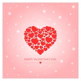 Happy valentines day greeting card vector illustration Royalty Free Stock Photo