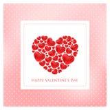 Happy valentines day greeting card vector illustration stock illustration