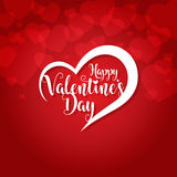 Happy valentines day greeting card vector illustration Stock Photography
