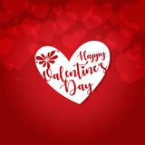 Happy valentines day greeting card vector illustration Royalty Free Stock Photography