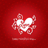 Happy valentines day greeting card vector illustration Royalty Free Stock Images