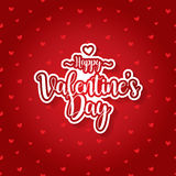 Happy valentines day greeting card vector illustration Stock Image