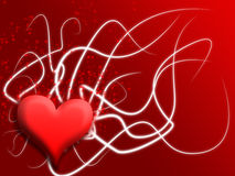 Valentines day heart. Heart background for valentines day, photoshop made Royalty Free Stock Photography
