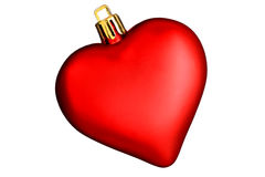 Valentines Day Heart. A single red ornamental heart representing Valentines Day Royalty Free Stock Photography