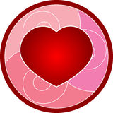 Valentines Day Heart. Beautiful cartoon illustration of Valentines Day heart Stock Photos