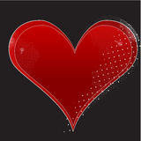 Valentines Day Heart. Heart vector illustrations for Valentines Day with different dot details Royalty Free Stock Image