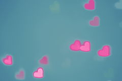 Valentines Day heart background Royalty Free Stock Image