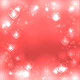 Valentines day heart background, love pink backdrop, space for text Stock Images