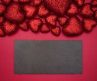 Valentines day heart background stock photos
