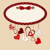Valentines day heart backgroung, vector Royalty Free Stock Photos
