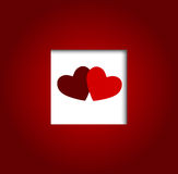 Valentines day heart backgroung, vector Royalty Free Stock Photography