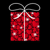 Valentines day heart backgroung, vector Royalty Free Stock Images