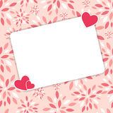 Valentines day heart backgroung, vector Royalty Free Stock Photo