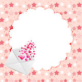 Valentines day heart backgroung, vector Stock Photos