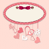 Valentines day heart backgroung, vector Stock Photography