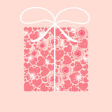 Valentines day heart backgroung, vector Royalty Free Stock Image