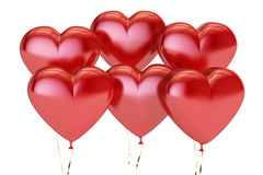 Valentines Day Heart Balloons, 3D Royalty Free Stock Photo