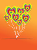 Valentines Day Heart Balloons Stock Image