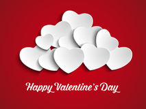 Valentines Day Heart Balloons on Red Background Stock Photos