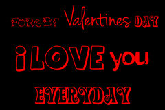 Valentines day heart. Best quote ever to show your love Royalty Free Stock Photo