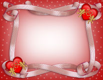 Valentines Day Heart Border Stock Images