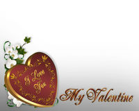 Valentines Day Heart Border Stock Photography