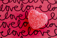 Valentines Day Heart Candy and Cookies Stock Images