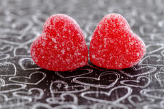 Valentines Day Heart Candy and Cookies Royalty Free Stock Photos