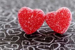 Valentines Day Heart Candy and Cookies Royalty Free Stock Images