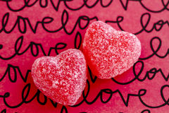 Valentines Day Heart Candy and Cookies Royalty Free Stock Photography