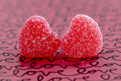 Valentines Day Heart Candy and Cookies Royalty Free Stock Image
