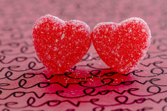 Valentines Day Heart Candy and Cookies Stock Photos
