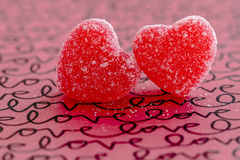 Valentines Day Heart Candy and Cookies Royalty Free Stock Photo
