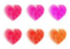 Valentines Day Heart Candy Isolated on White. Background royalty free stock photography