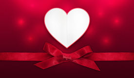 Valentines day heart card Royalty Free Stock Photography