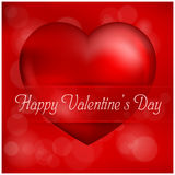 Valentines Day heart card Stock Photography