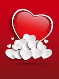 Valentines Day Heart Clouds Stock Photography