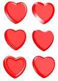 Valentines Day Heart Collection. 3D Valentines Day Heart Collection on isolated white background Stock Image
