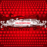 Valentines Day Heart Design. Grunge banner, card Royalty Free Stock Photos