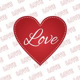 Valentines day heart 14 february love. Valentines day heart 14 february  card Royalty Free Stock Photography
