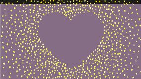 Valentine background with pink glitter hearts. February 14th day. Vector confetti for valentine background template. Valentines day heart with gold glitter Royalty Free Stock Image