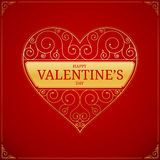 Valentines Day heart. Golden love or wedding sign Stock Photo