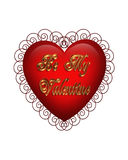 Valentines Day Heart Graphic isolated Stock Images