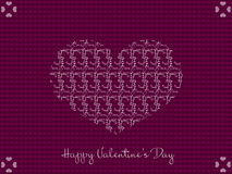 Valentines day heart greeting card Stock Photo