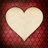 Valentines day - heart with handmade paper Royalty Free Stock Images